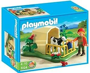 Playmobil Granja Ternero Con Refugio (5124)