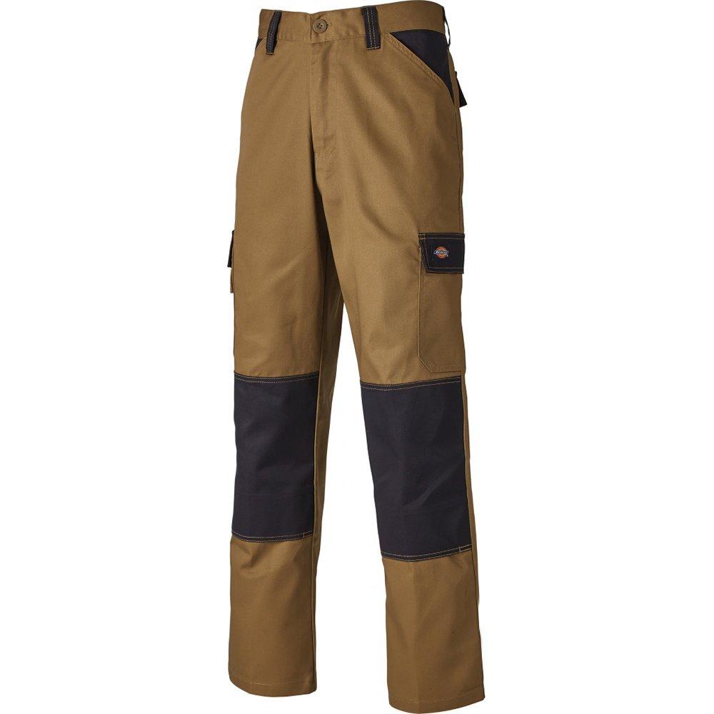 Dickies ED24/7, Pantalones de trabajo Hombre, Khaki/Negro, 32