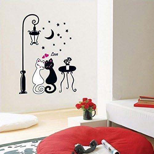 Amazon Com Art Design Home Decoration Wall Decor Cute Cat Couple Wall Sticker Decal Kitchen Dining