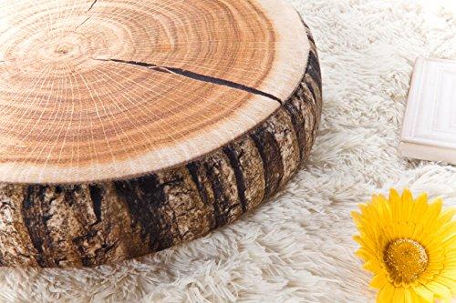Tree Stump Pillow Plush | Round Wood Slice Pillow 5