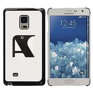 Paccase / SLIM PC / Aliminium Casa Carcasa Funda Case Cover - A Raven Initial Letter Grey Black - Samsung Galaxy Mega 5.8 9150 9152