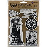 """Prima Marketing Finnabair Cling Stamps 6""""X7.5"""", Now Is The Right Time"""