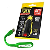 Search : Nitecore TUBE RL 45 lumen USB rechargeable Red light for map reading etc with EdisonBright USB powered flexible reading light bundle