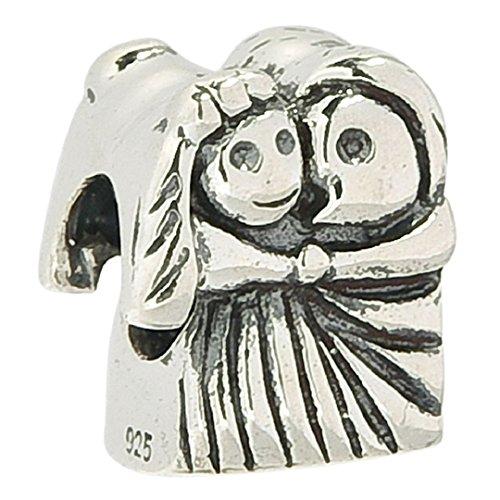 [Wedding Bride Groom Kiss Couploe 925 Sterling Silver Bead Fits Pandora Charms] (Bride And Groom Halloween Costumes Uk)