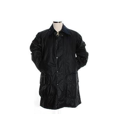 fc491810c32 Barbour Border Waxed Jacket - Navy  Amazon.co.uk  Clothing