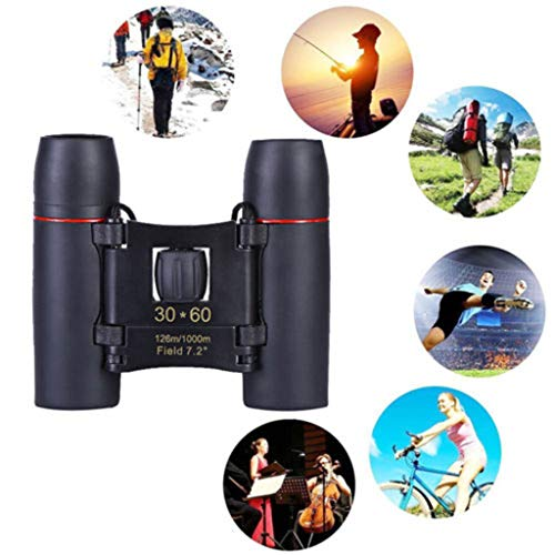 ♛Euone Clearance♛, Portable Mini Binoculars 30 x 60 Zoom Outdoor Travel Folding Telescope with Bag -
