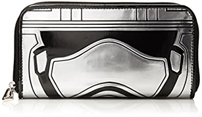 Loungefly Captain Phasma Silver Metallic Embossed Wallet, Grey, One Size