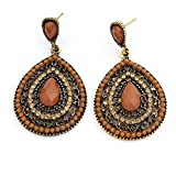Elakaka Women's Beaded Creative Palace Retro Resin Earrings