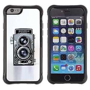 All-Round híbrido Heavy Duty de goma duro caso cubierta protectora Accesorio Generación-II BY RAYDREAMMM - Apple iPhone 6 PLUS 5.5 - Camera Retro Vintage Technology Art Photo