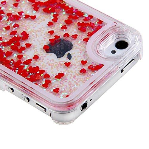 Yaobai 2015 Hartschalenhülle (für iPhone 6 Plus, 14 cm, für iPhone, 6, Plus 6Plus, für iPhone, Transparent, Schutzhülle für Apple iPhone 6 13.97 cm, fließende Farben, Glitzer-Design, goldfarben Sterne
