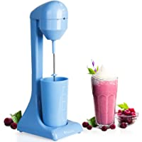 MYONAZ Electric Milkshake Maker with 18 Ounce Cup 2 Speed Switch Milk Shaker for Ice Cream Mango Bliss Plastic Drink Mixer 120V (Blue)