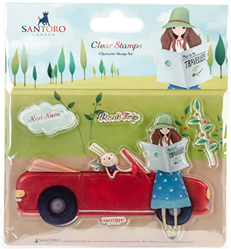 SKKSTMP9 Santoro Kori Kumi II A6 Character Stamps-Road Trip Embellishments Road Trip