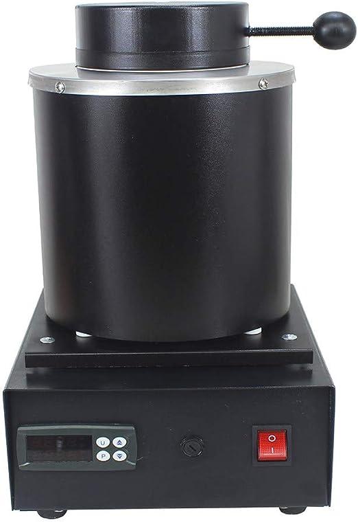 LHRGYY Forno per Oro 1100℃ Fusione Metalli,1600W Forno Fusione Elettrico Crogiolo Fusione Metalli Grafite Flask Crucible per Alluminio di scarto di Fusione Argento Oro Stagno,Black-1KG