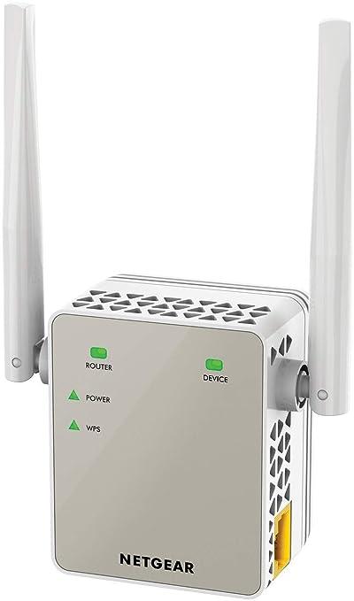 Netgear EX6120-100PES, Amplificador wifi Doble Banda, Puerto LAN, Compatibilidad Universal, Wi-Fi, Blanco