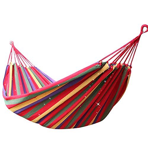 Others SQ-061 Portable Hammock Camping Hammock for Backpacking Garden, Backyard,Hiking &Traveling - Multicolors, Large        Amazon imported products in Pakistan