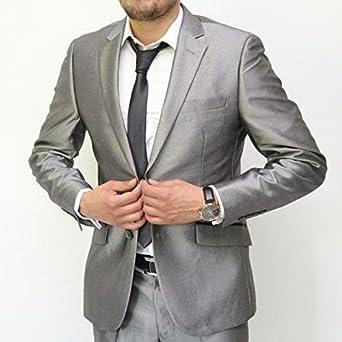 Costume homme gris brillant  Amazon.fr  Vêtements et accessoires df2609ac9f0