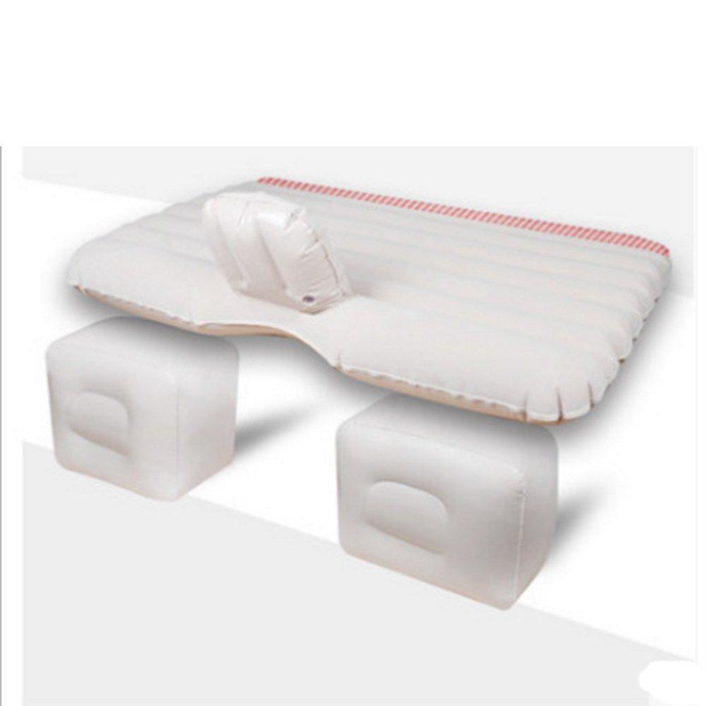 TPU Auto Bett Auto Bett Auto Reisebett Auto Luftmatratze Universelle Multi-Farbe Optional Matratze Und Fuß Pier Trennung,Weiß