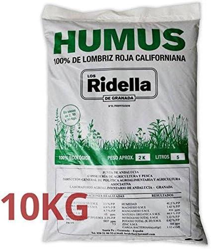 Los Ridella de Humus Lombrico Californiano 10 Kg: Amazon.es: Jardín