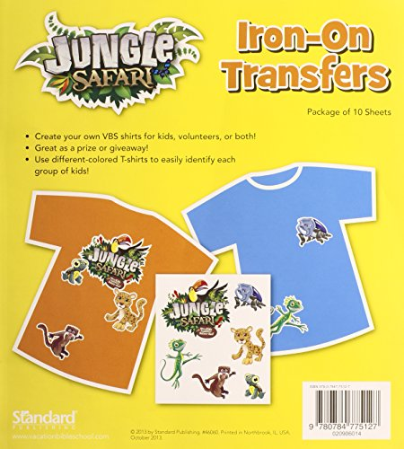 Iron-On Transfers (Vacation Bible School (VBS) 2014: Jungle Safari—Where Kids Explore the Nature of)
