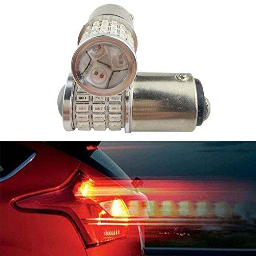 Minzhi 2pcs/set 1157 54SMD 3014 Car Vehicle Super Bright LED Bulbs Lamps Replacement Tail Brake Lights 9-30V by Minzhi