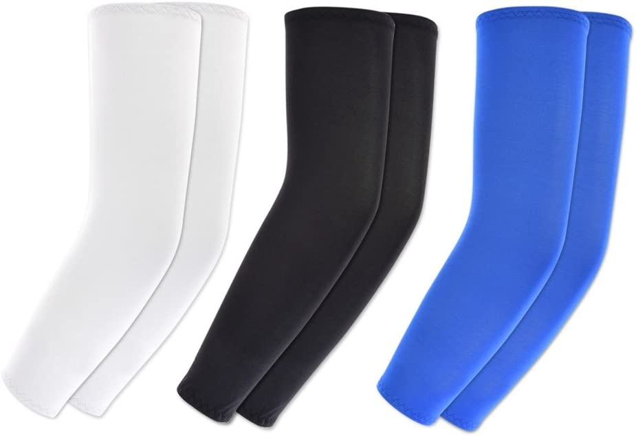 KOVISS Sports Cooling Arm Sleeves UV Protection Unisex Sun Block Warmer or Cooler Bike Hiking Golf Cycle Drive Outside Activities