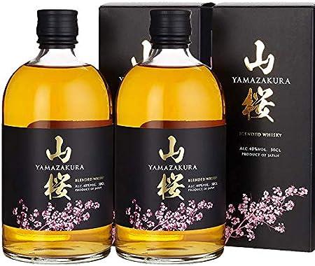Blended Whisky Yamazakura Japanese de 70 cl - Elaborado en Japon - Qantima Group (Pack de 2 botellas)