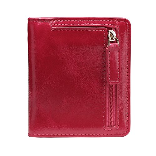 Suitable Color Zero Light Wallet everyday Hand Red Security Mini use Genuine Purse for Optional Refinement Anti Unisex Asdflina Multi Bag Leather Red Pack color theft Super vnHxgIwzq