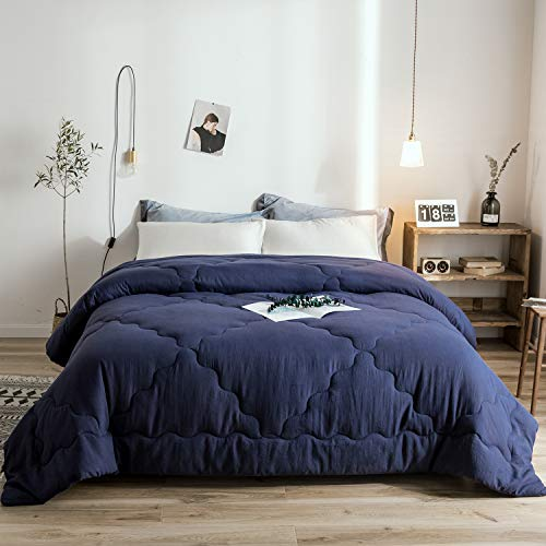 Melody House Down Alternative Comforter Duvet Insert for All Season Warm Super Soft Hypoallergenic, Navy Blue, Queen (Melody House)