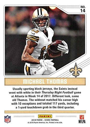 Amazon.com  2018 Score Color Rush  14 Michael Thomas New Orleans Saints  Football Card  Collectibles   Fine Art 1569b2594