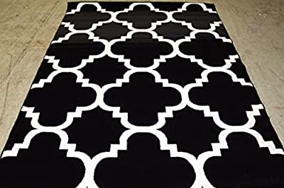 4518 Burgundy Moroccan Trellis Area Rug Modern Carpet Large New
