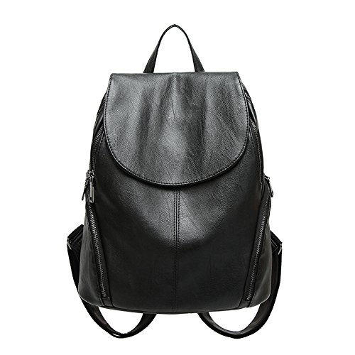 2018pu Color Solid Shoulder Black Pure Color Fashion Black Bag Fashion TqWv6txzgw