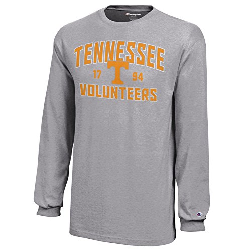 (NCAA Champion Boy's Long Sleeve Jersey T-Shirt Tennessee Volunteers X-Large)