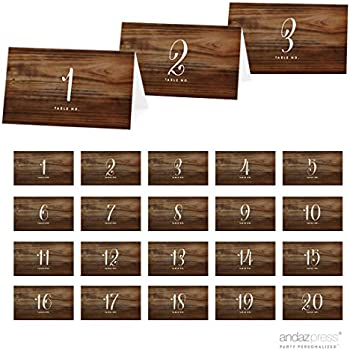 Amazoncom Andaz Press Table Tent Place Cards On Perforated Paper - Wooden table tents