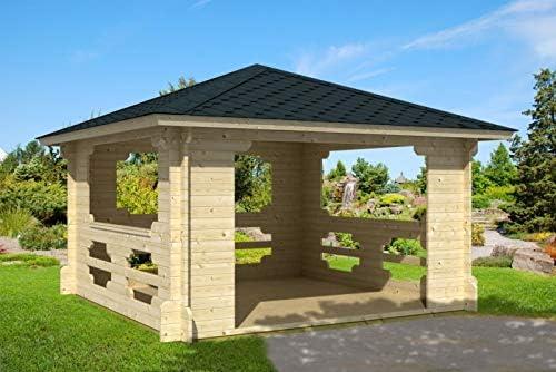 Prikker-Gartenhaus Ibiza-40 - Pérgola de madera, 400 cm x 400 cm, 40 mm, para jardín: Amazon.es: Jardín