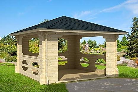 Prikker-Gartenhaus Ibiza-40 - Pérgola de madera, 400 cm x 400 cm ...