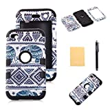 TIANLI(TM) Case For iPod Touch 4,Thailand Tribe Elephant Pattern Armor Defender Case Cover For Apple ipod touch 4th Generation+[Screen Protector]+[Free Stylus]+[Cleaning Cloth] STDX Black