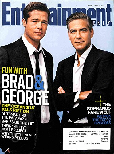 Entertainment Weekly June 15 2007 Brad Pitt & George Clooney, The Sopranos Farewell (Issue #939)