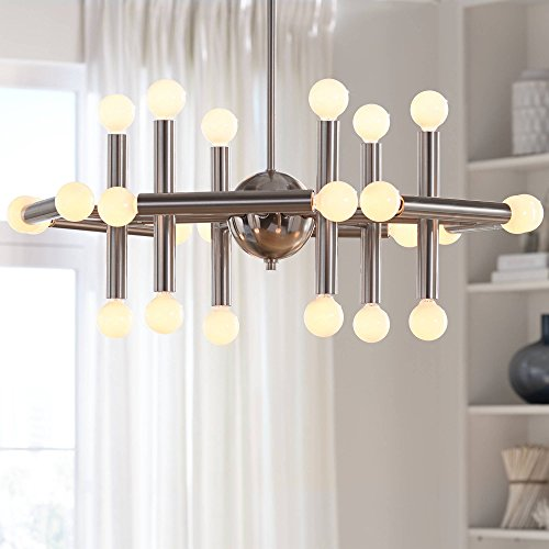 Possini Euro Hera 26 Wide Brushed Nickel Chandelier – Possini Euro Design