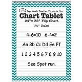 "Top Notch Teacher Products Chevron Border Chart Tablet (1 1/2"" Ruled), 24"" x 32"", Teal"