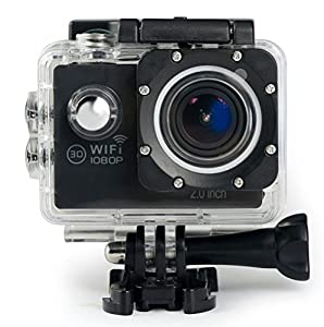 Action Camera Bnoia 4K Underwater Camera 30M Full HD 2.0'' LCD Wi-Fi 16MP Waterproof Camcorder170° Ultra Wide Angle Lens With Mounting Accessories Kit for Cycling Swimming Climbing