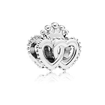 a1d8ea699 Image Unavailable. Image not available for. Color: Pandora United Regal  Hearts Sterling Silver Charm 797670