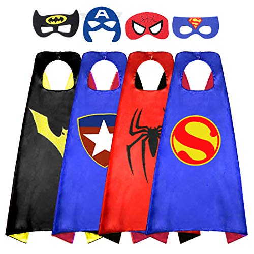 Adopt Me Halloween Costume (Superhero Cape for Kids, Double-Sided Satin Capes and Felt Mask for Dress Up Costumes- Best Gifts for 3 4 Year Old Boy)