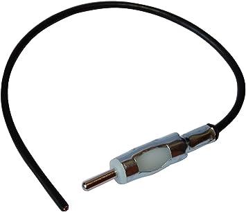 AERZETIX: Conector Adaptador Enchufe de Antena autoradio DIN Macho precableado 20cm para Coche vehiculos C12001