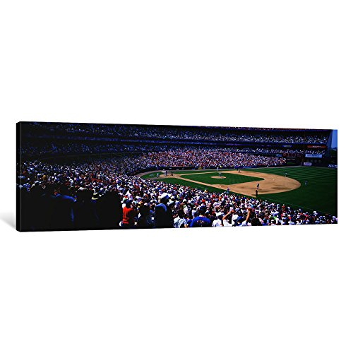 iCanvasART 1 Piece Spectators in a Baseball Stadium, Shea Stadium, Flushing, Queens, New York City, New York State, USA Canvas Print by Panoramic Images, 12 x 36 x (Shea Stadium Baseball)