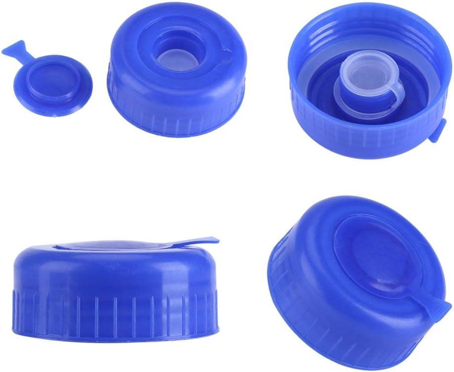 Freebily 5Pcs Blue 3 /& 5 Gallon Water Bottle Screw on Cap Reusable Replacement Anti Splash Lids