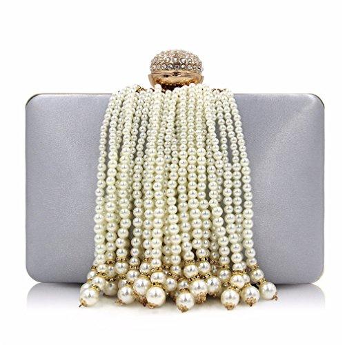 Bag Clutch Tassel Party Purses Bags Gold Evening Wedding Women Female Bag Girl Silver Ladies Pearl Clutch Utx4z77