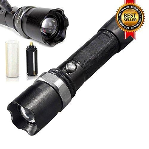 Euone  Flashlight Clearance Sale , Tactical Police Heavy Duty Flashlight 3W LED Rechargeable Flashlight