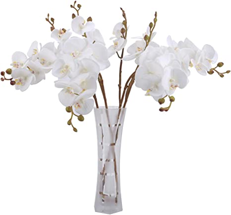 Details about  /Artificial Fake Real Touch White Butterfly Orchid Flower Party Home Decoration