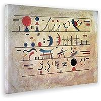 GIALLO BUS - Quadro - Kandinsky - Quadro Astratto File di SEGNI - Quadri Moderni di Tela o plexiglass per arredo casa Design - Vari Formati XXL