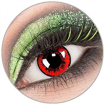 Farbige Rote Schwarze Engel Kontaktlinsen Ohne Starke 1 Paar Crazy